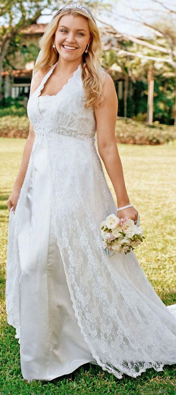 used plus size wedding dresses photo - 1