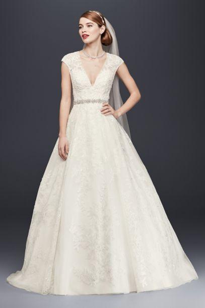 v cut wedding dresses photo - 1