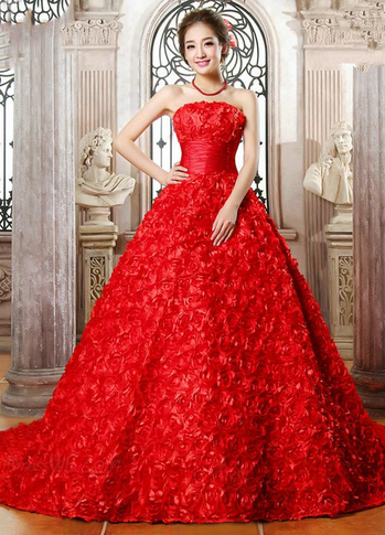 valentines day wedding dresses photo - 1