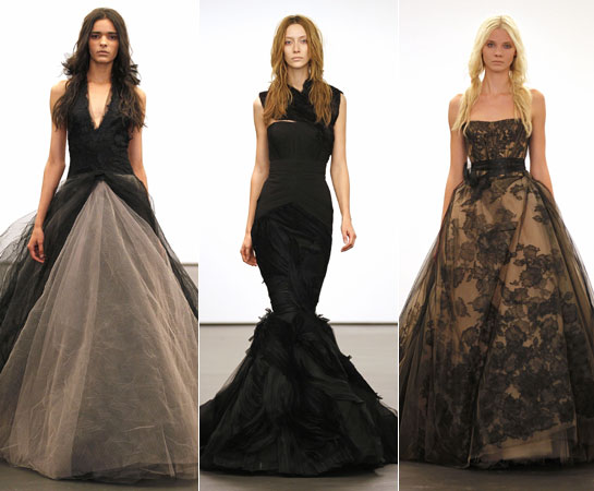 vera wang black wedding dresses photo - 1