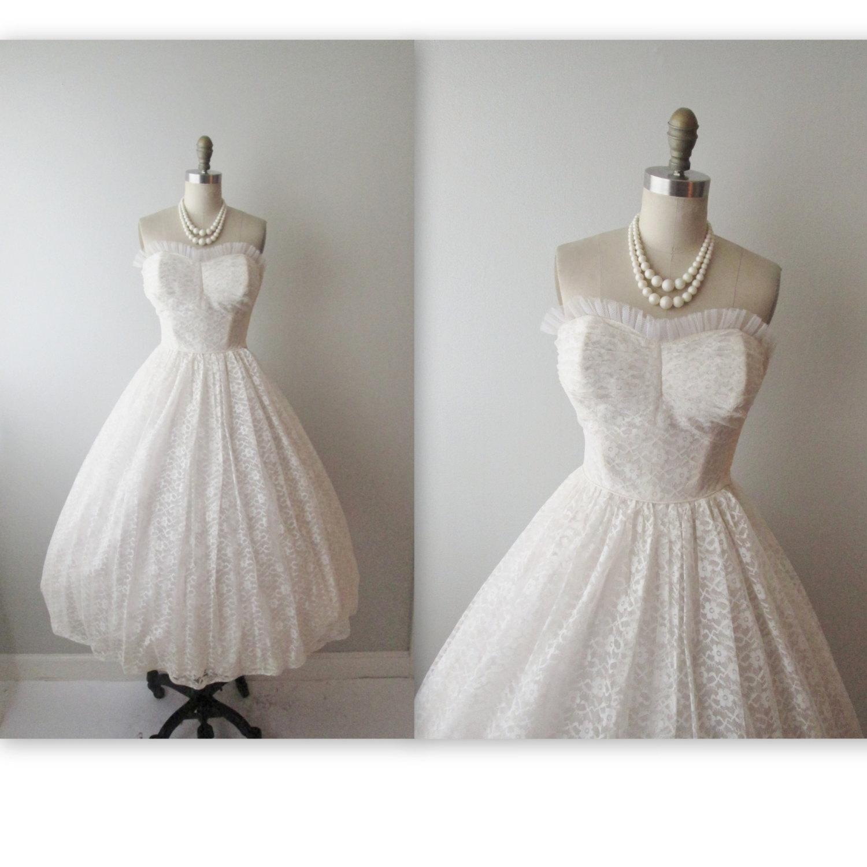 vintage 50s wedding dresses photo - 1