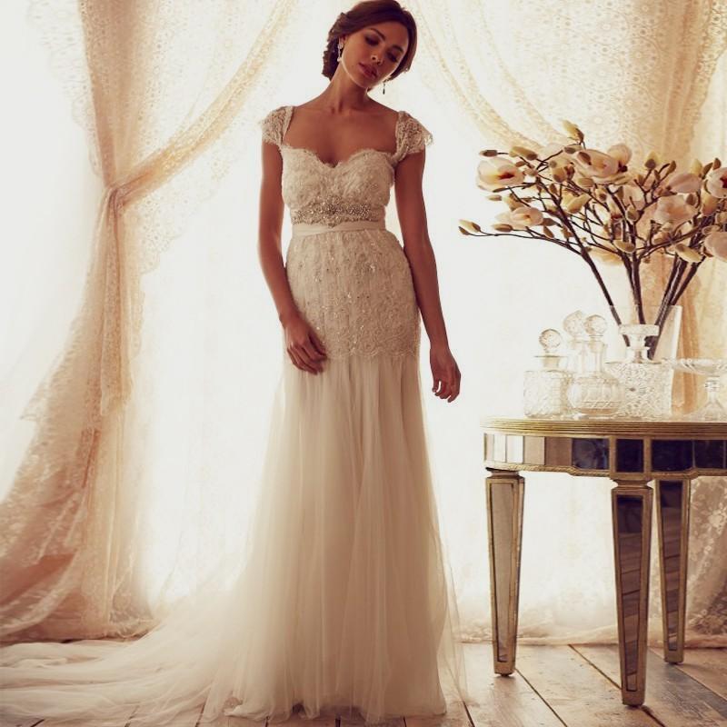 vintage beach wedding dresses photo - 1