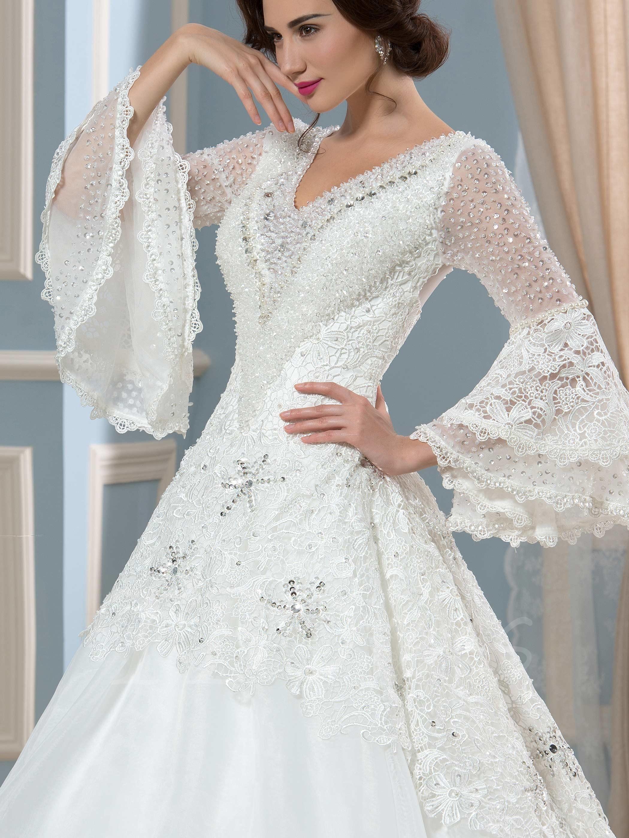 vintage beaded wedding dresses photo - 1