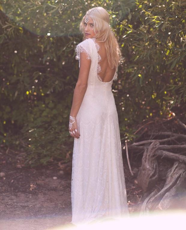 vintage boho wedding dresses photo - 1