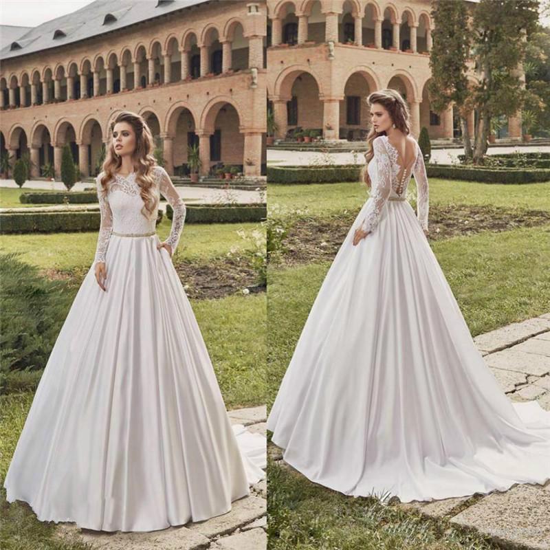 vintage fall wedding dresses photo - 1