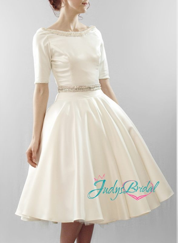 vintage inspired short wedding dresses photo - 1