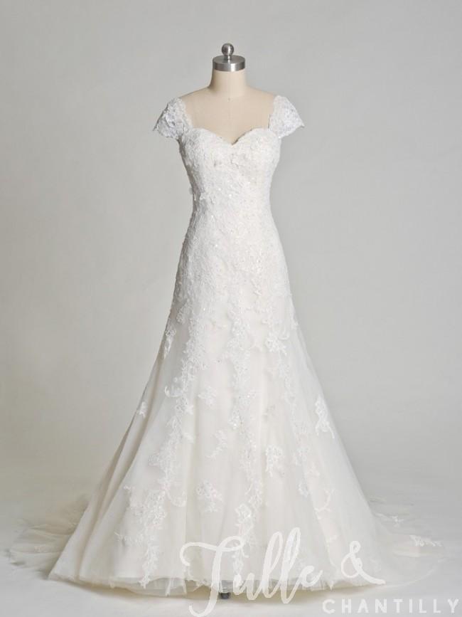 vintage lace short wedding dresses photo - 1