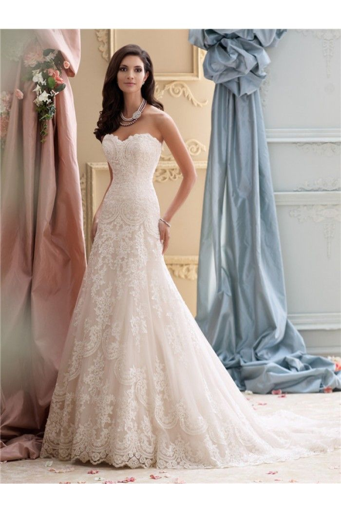 vintage strapless wedding dresses photo - 1