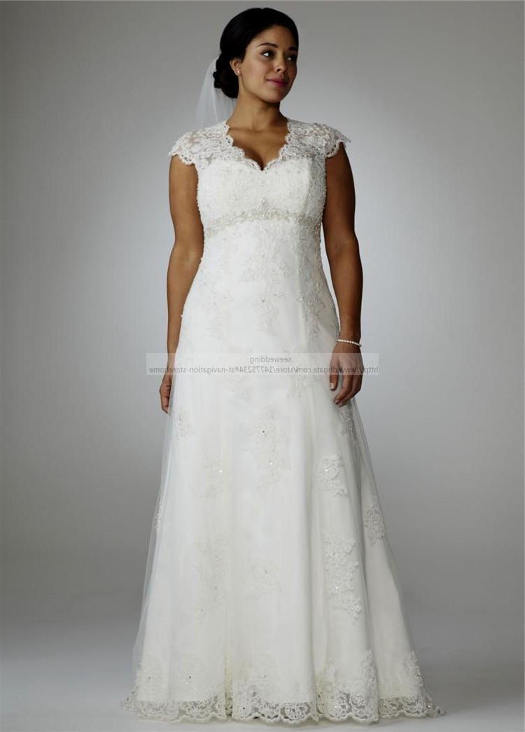 vintage style plus size wedding dresses photo - 1