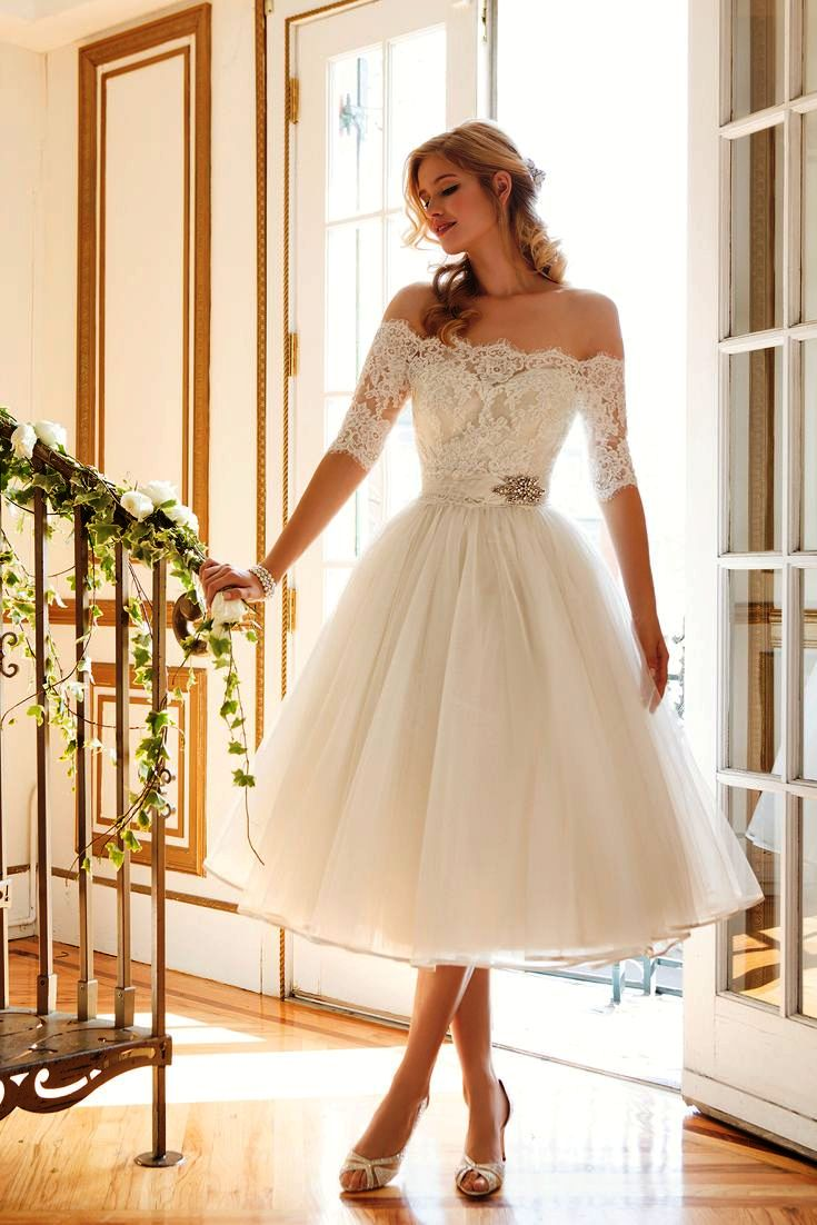 vintage style short wedding dresses photo - 1