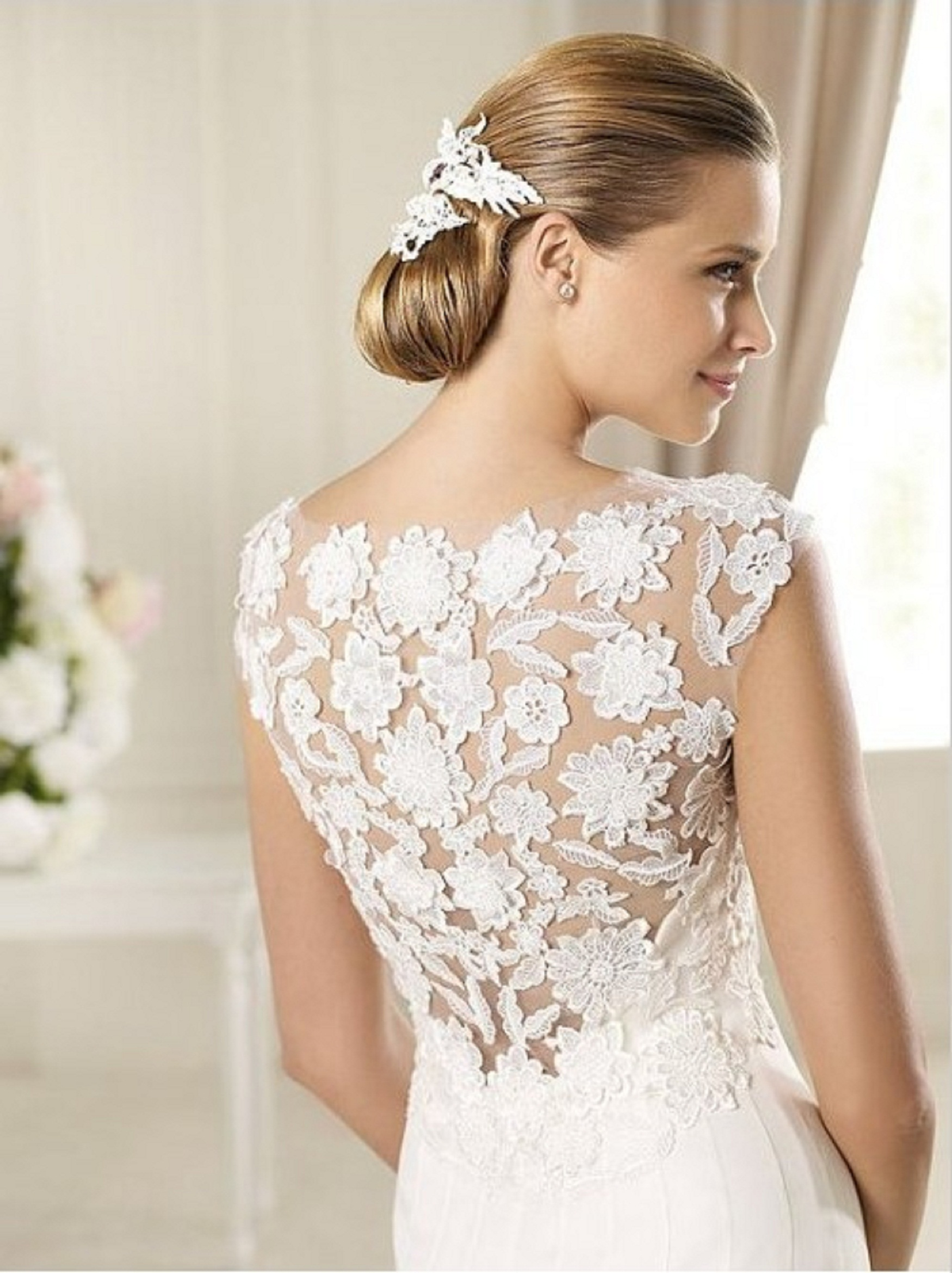vintage style wedding dresses lace photo - 1