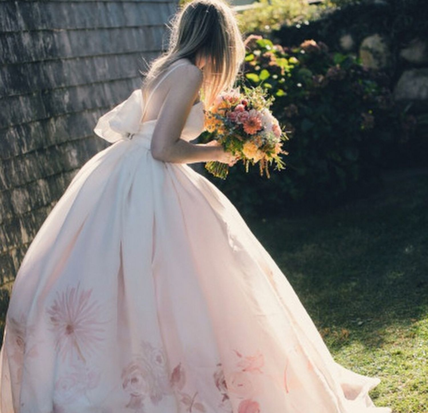 watercolor wedding dresses photo - 1