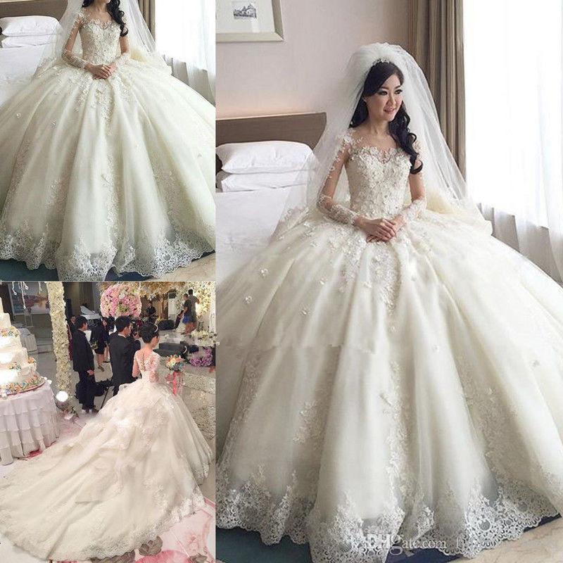 wedding dresses 3 4 sleeve photo - 1