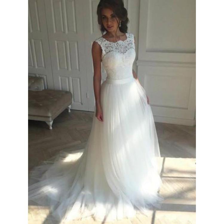 wedding dresses a line photo - 1