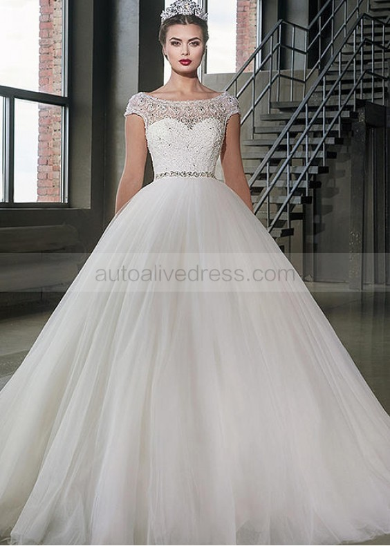 wedding dresses a line with sleeves photo - 1