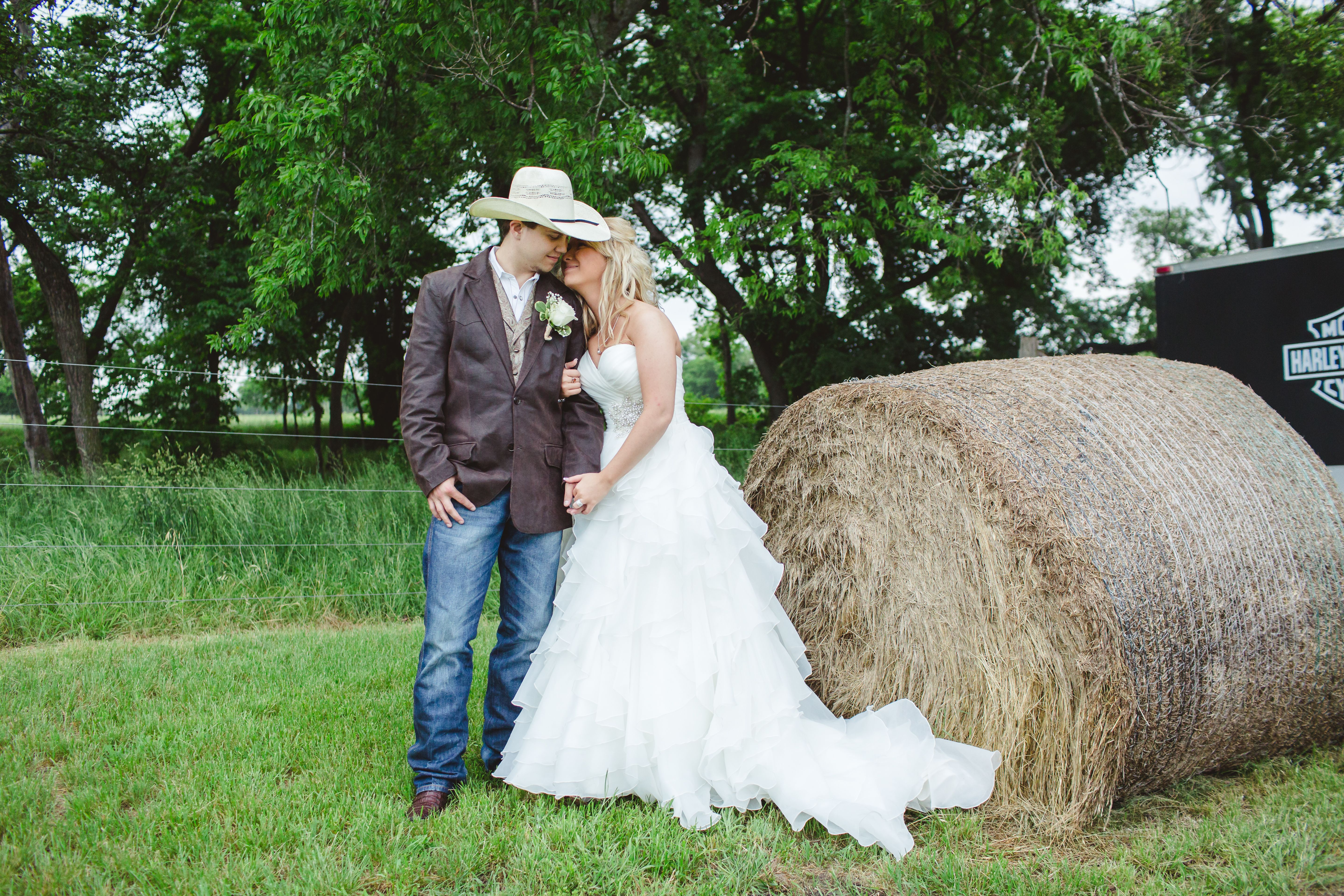wedding dresses and cowboy boots photo - 1