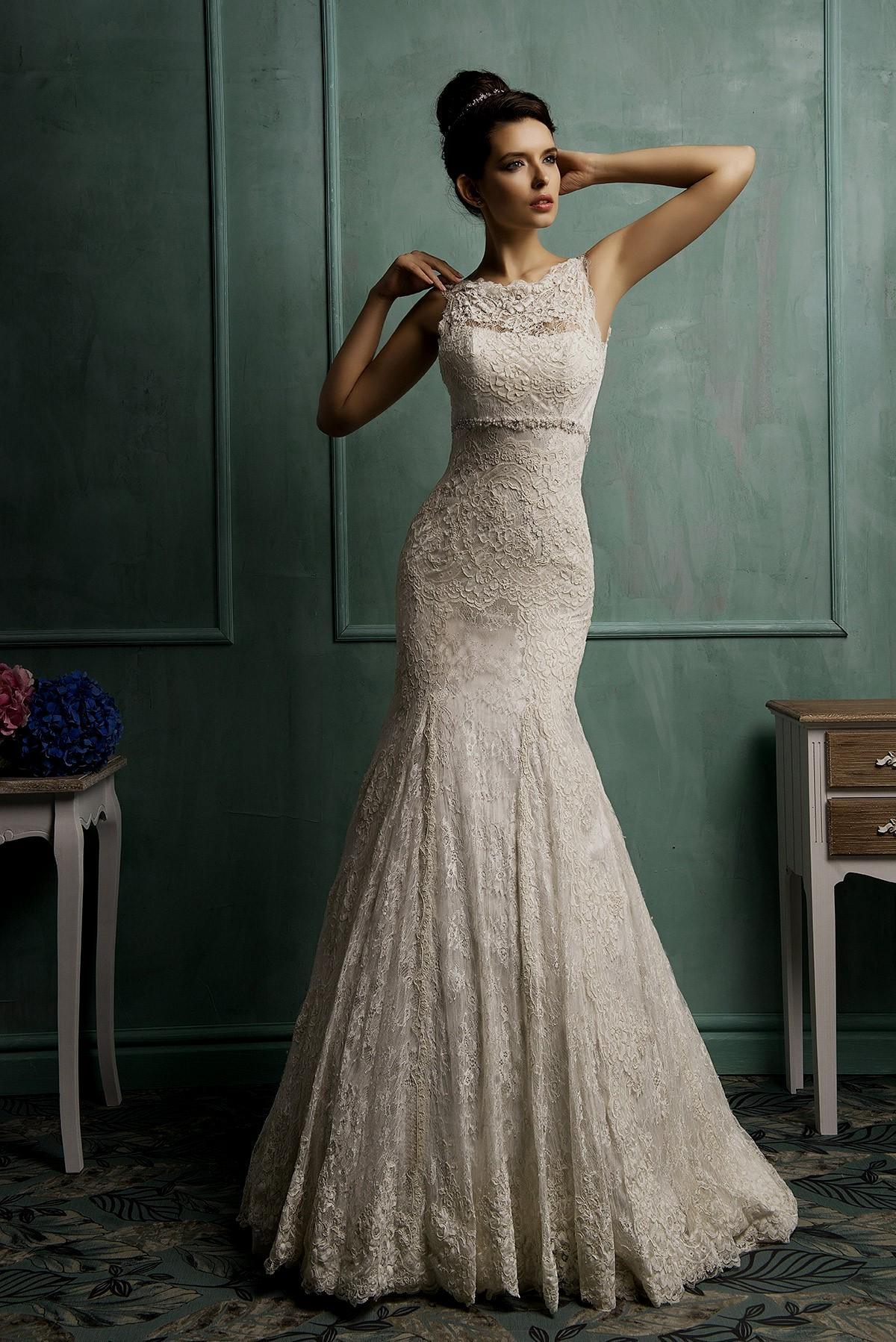 wedding dresses beige photo - 1
