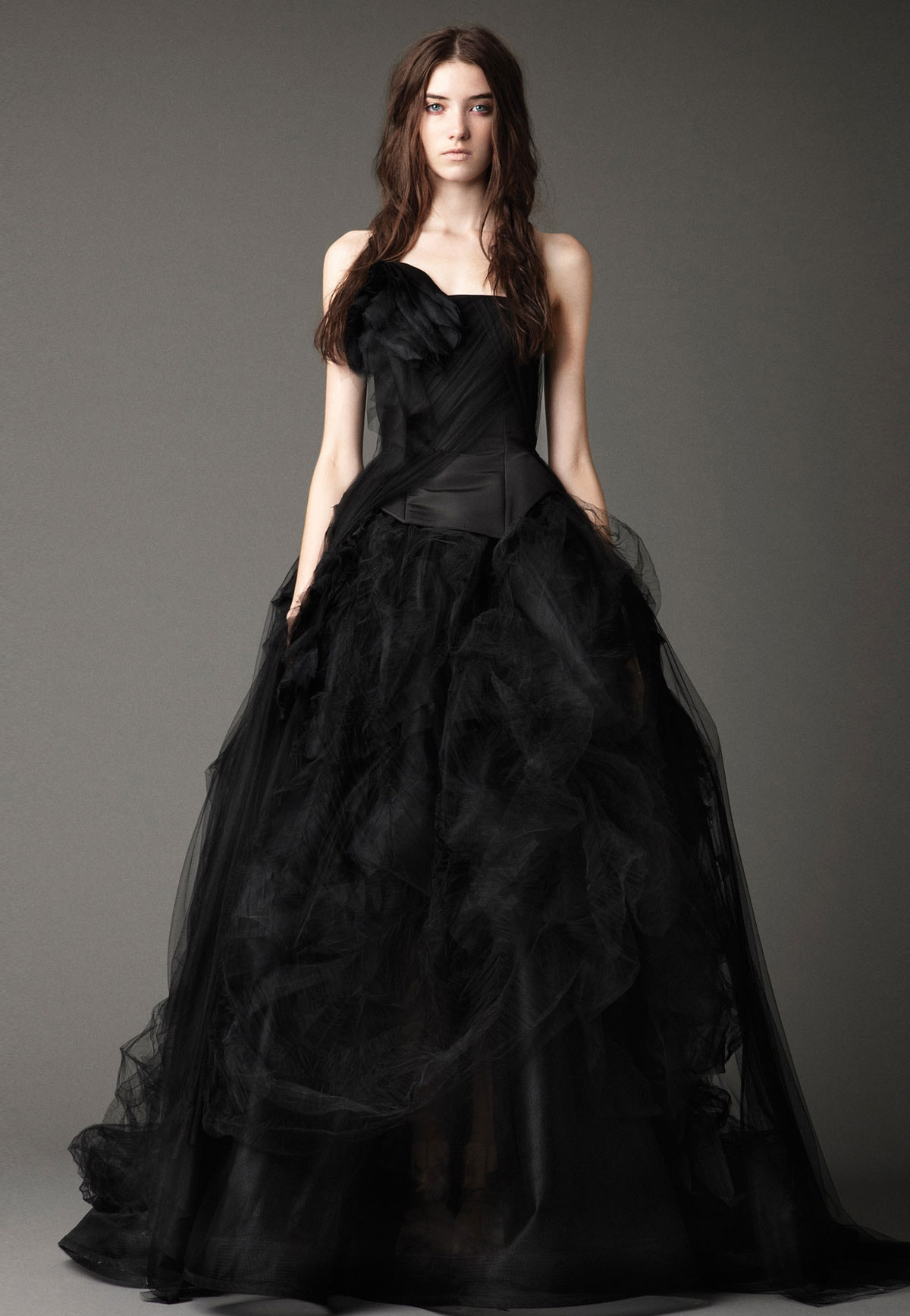 wedding dresses black photo - 1