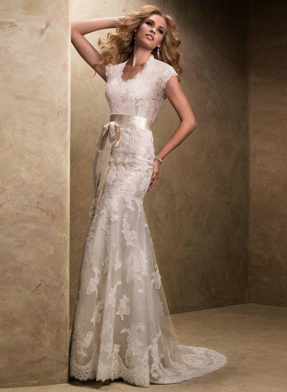 wedding dresses champagne color photo - 1