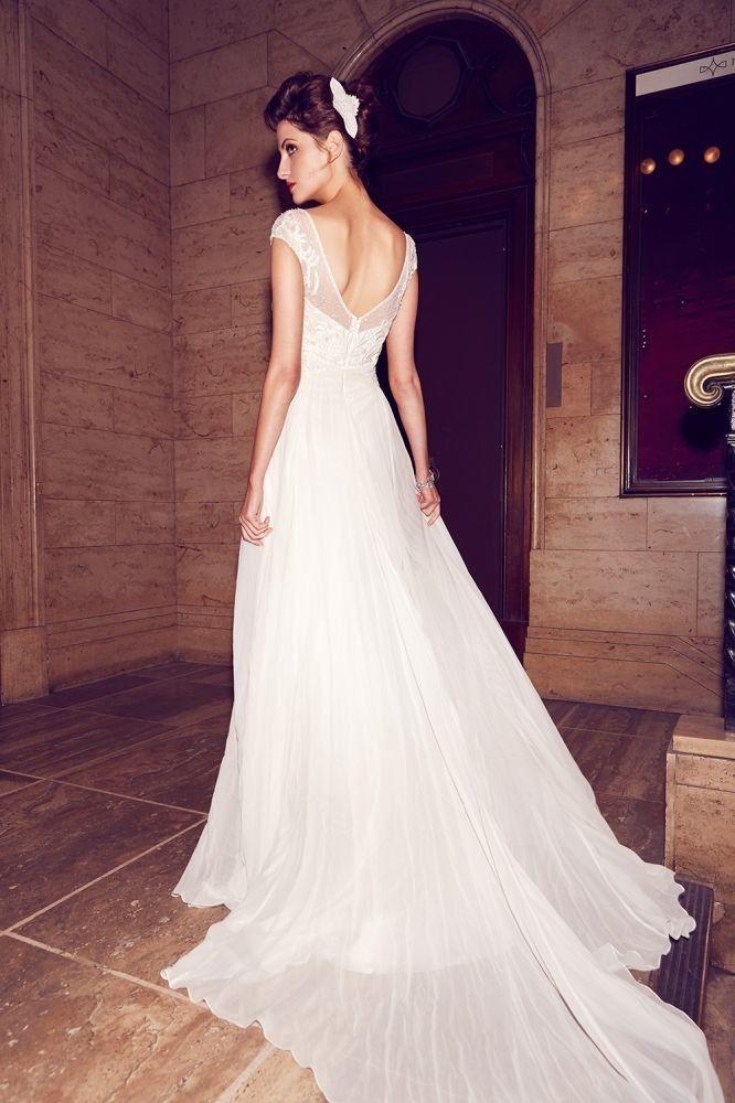 wedding dresses chiffon photo - 1