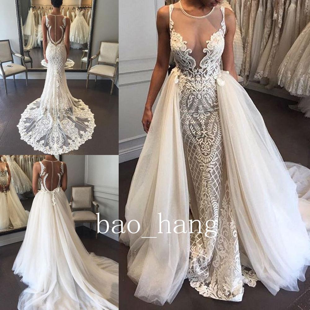 wedding dresses detachable skirt photo - 1