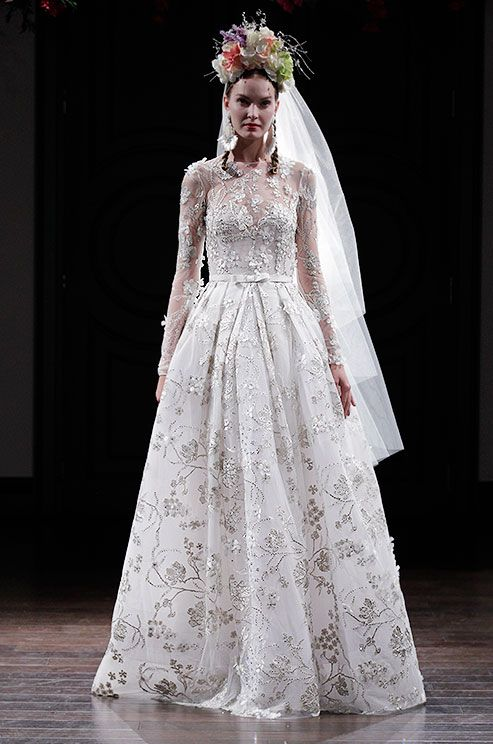wedding dresses embroidered photo - 1