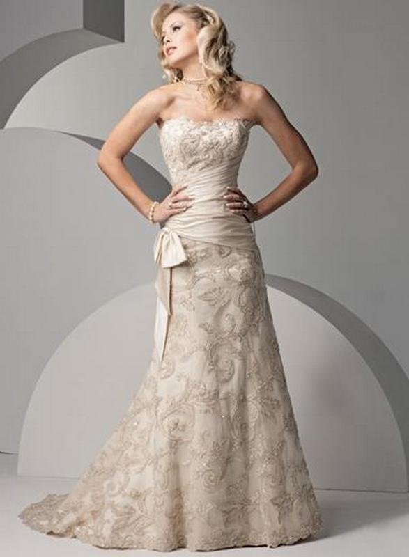 wedding dresses for 40 year old photo - 1