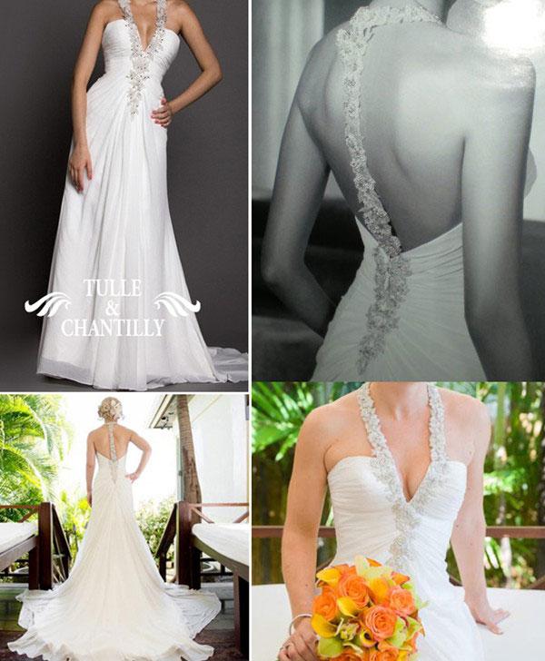 wedding dresses for beach ceremony photo - 1