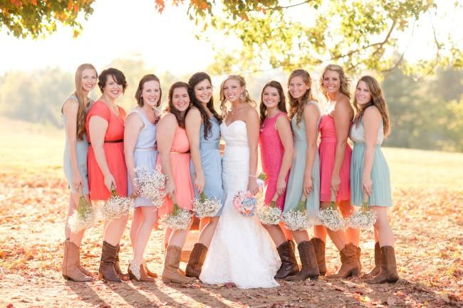 wedding dresses for fall outdoor wedding photo - 1