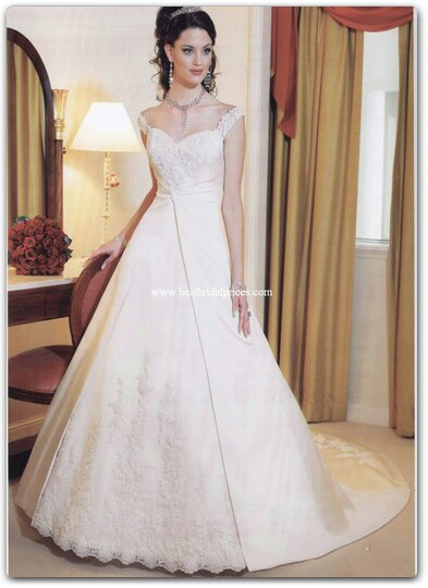 wedding dresses for fat arms photo - 1