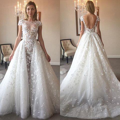 wedding dresses for outside wedding photo - 1