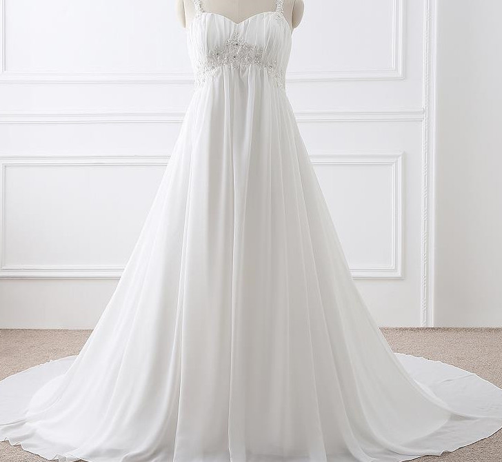 wedding dresses for plus size older brides photo - 1