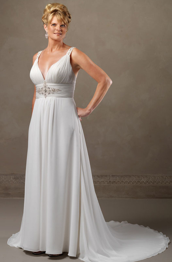 wedding dresses for second marriage plus size photo - 1