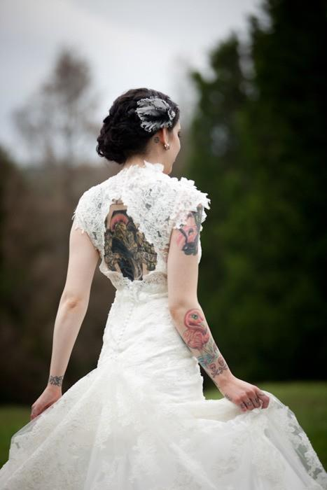 wedding dresses for tattooed brides photo - 1