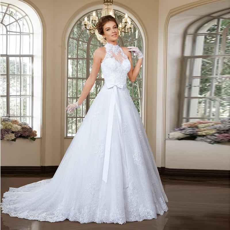 wedding dresses halter neck photo - 1
