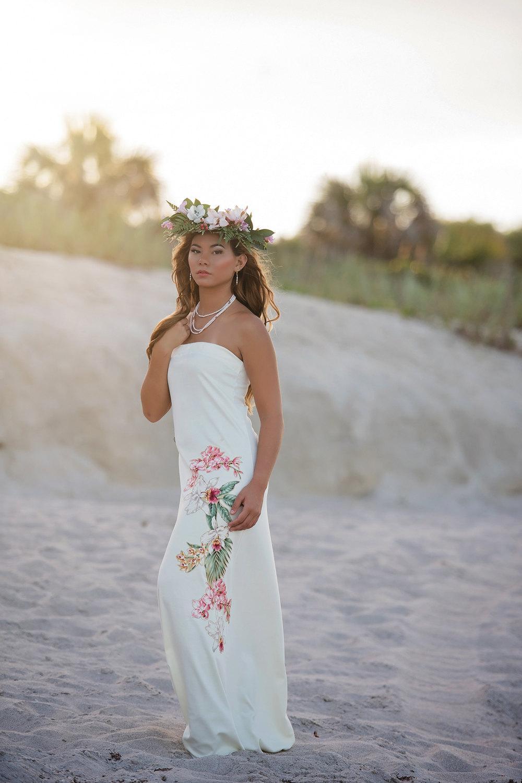 wedding dresses hawaiian photo - 1