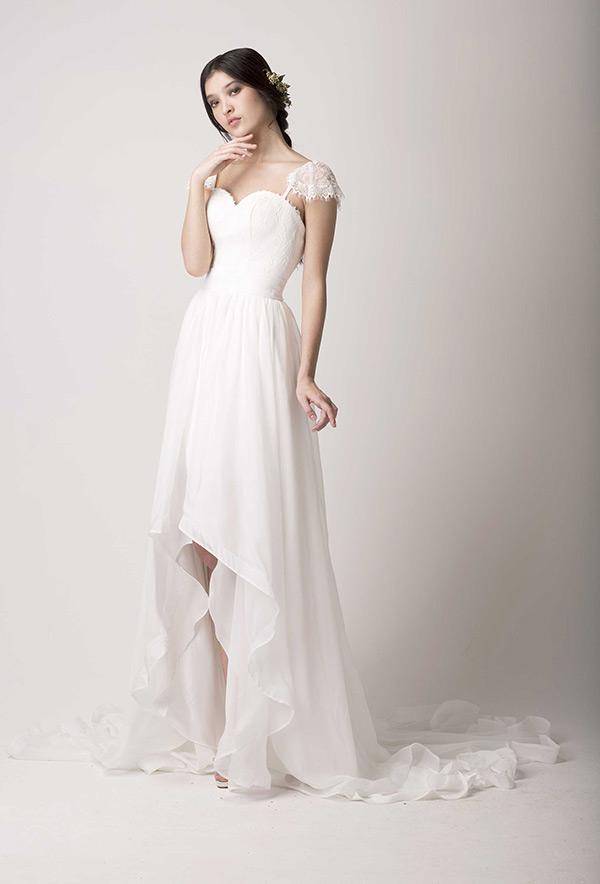 wedding dresses hi low photo - 1