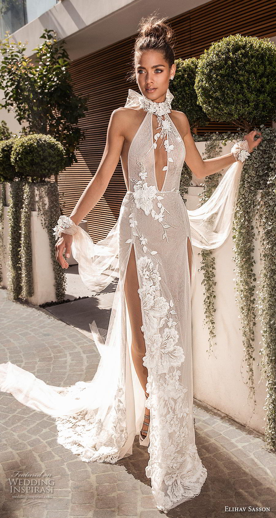 wedding dresses illusion photo - 1