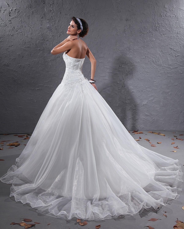wedding dresses lace back photo - 1