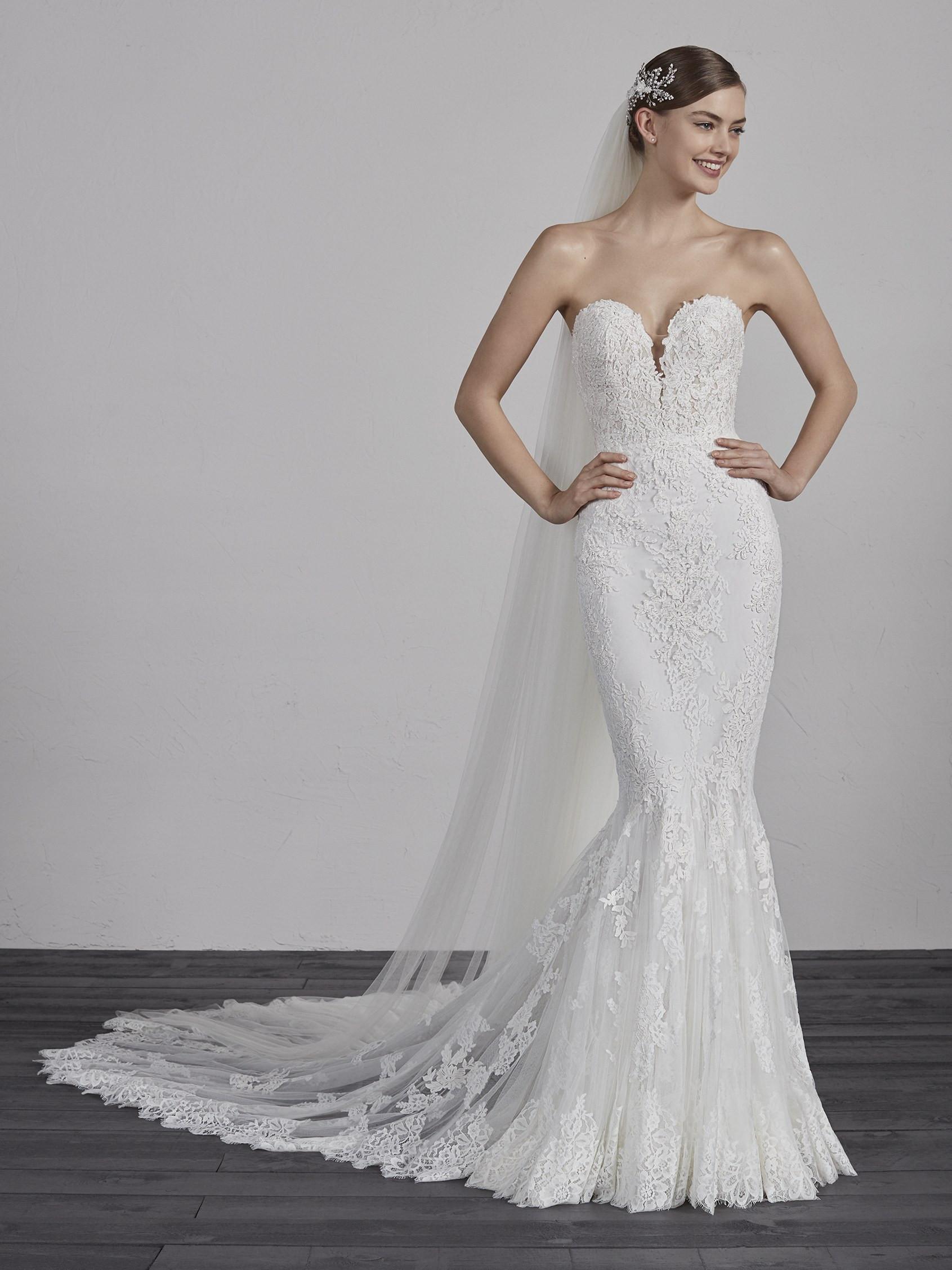 wedding dresses mermaid lace photo - 1