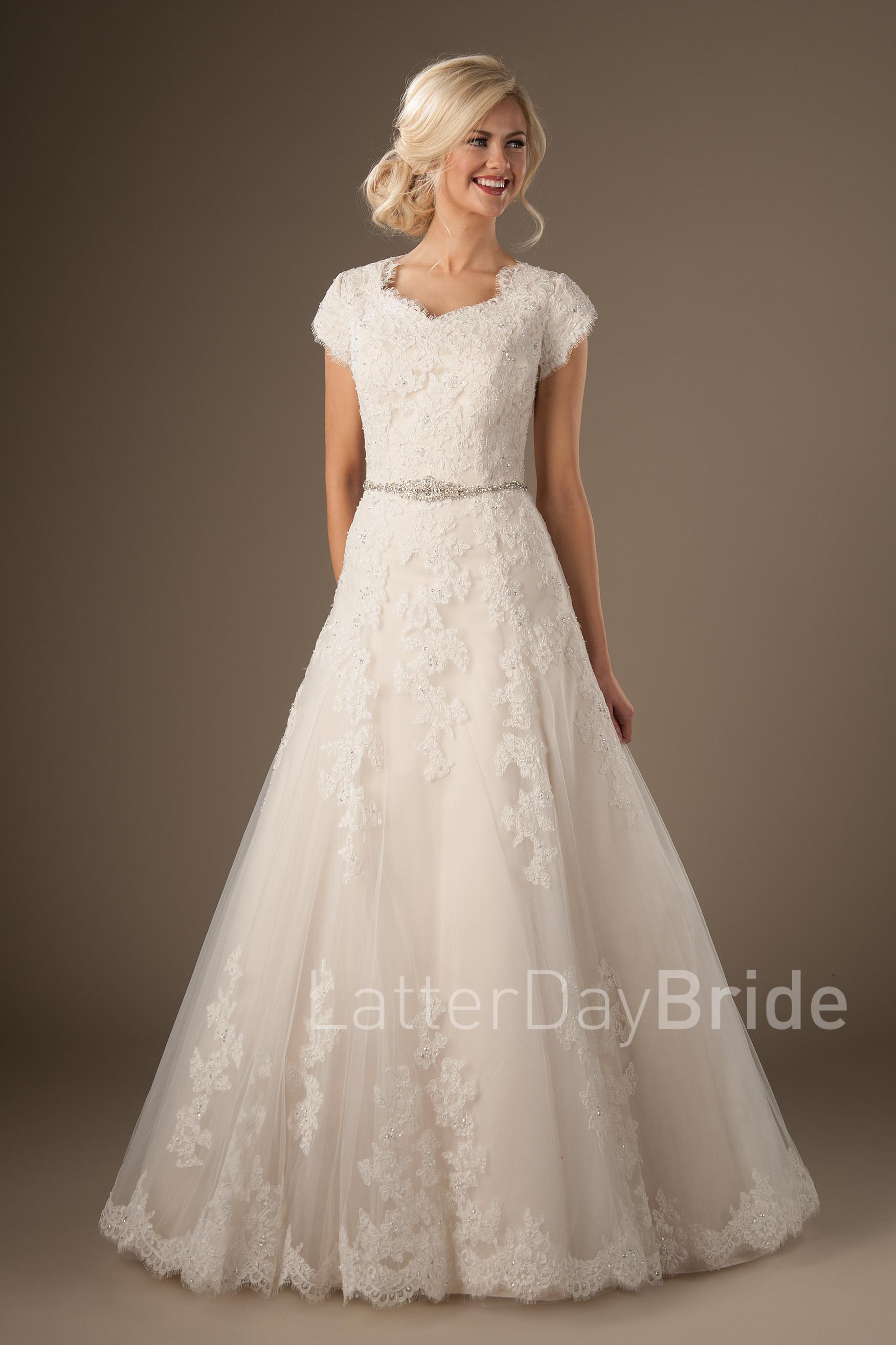 wedding dresses modest photo - 1
