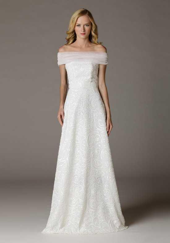 wedding dresses off the shoulder photo - 1