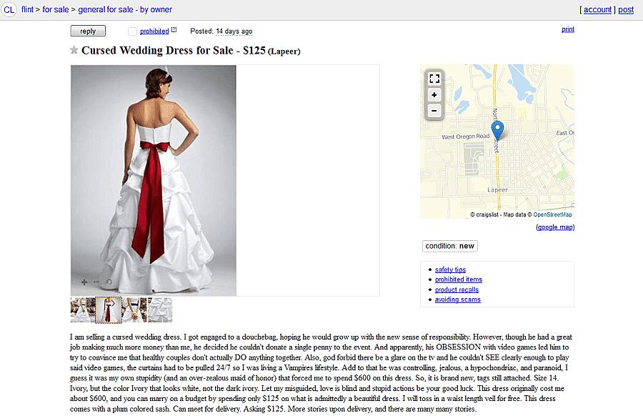 wedding dresses on craigslist photo - 1