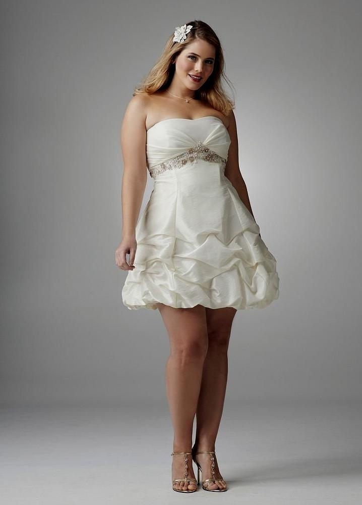 wedding dresses plus size short photo - 1