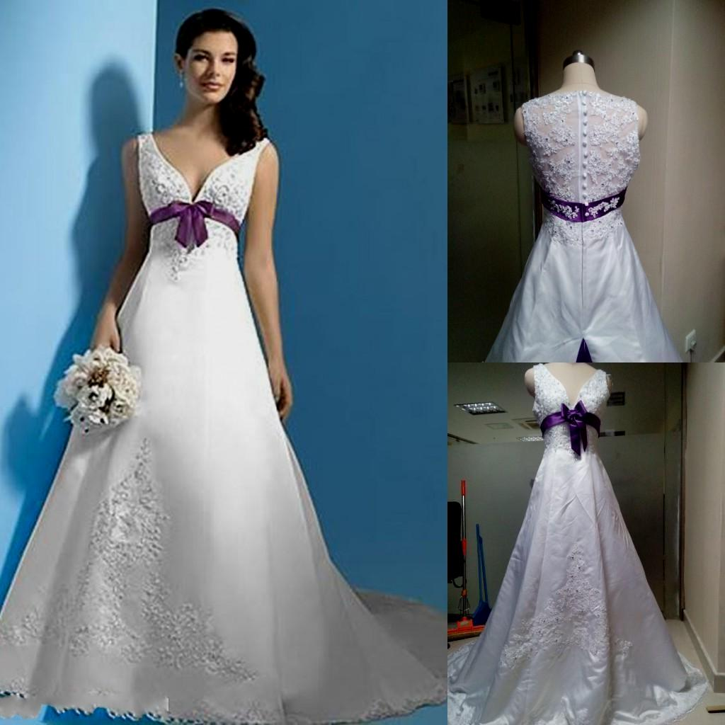 wedding dresses purple and white photo - 1