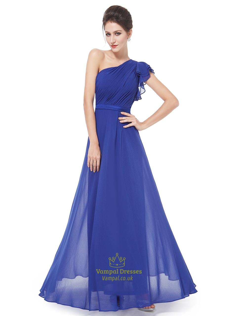 wedding dresses royal blue photo - 1
