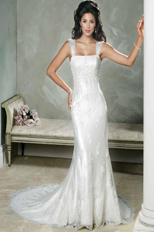 wedding dresses sheath photo - 1