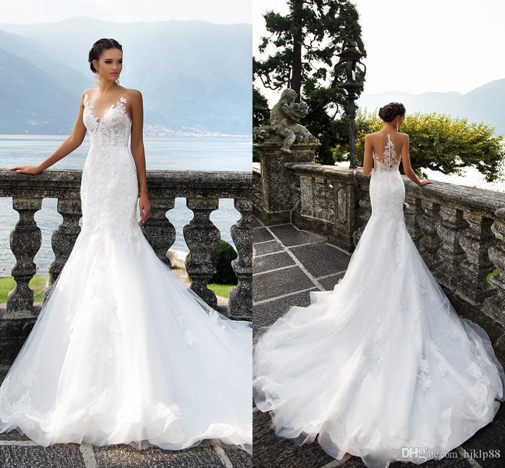 wedding dresses sheer sleeves photo - 1