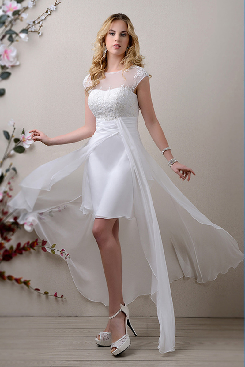 wedding dresses short length photo - 1