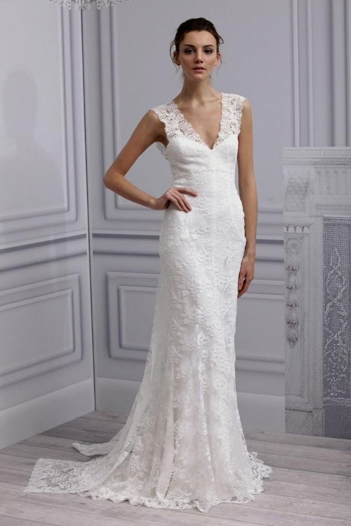wedding dresses simple lace photo - 1